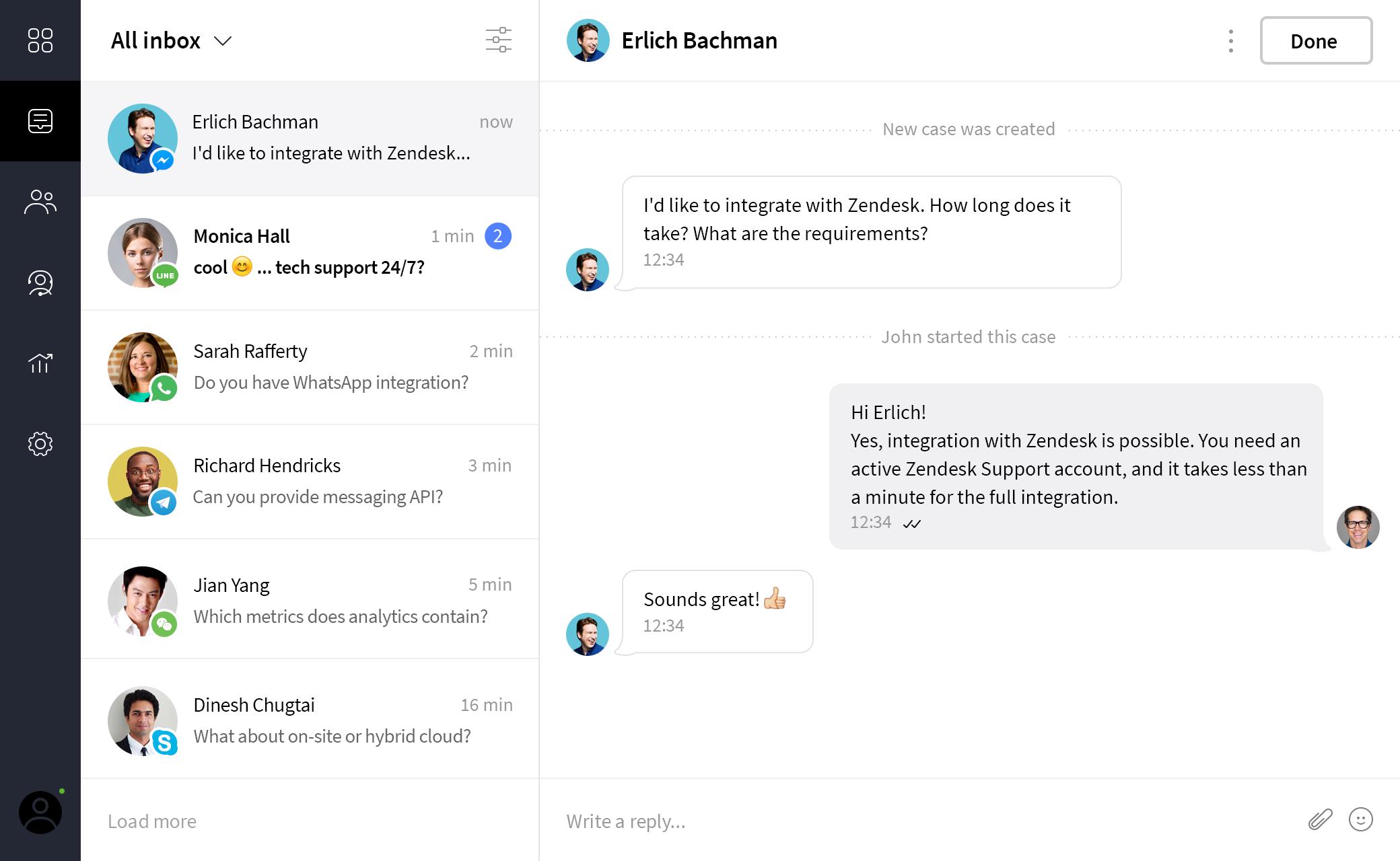 Blinger io | Omnichannel helpdesk for customer support & sales